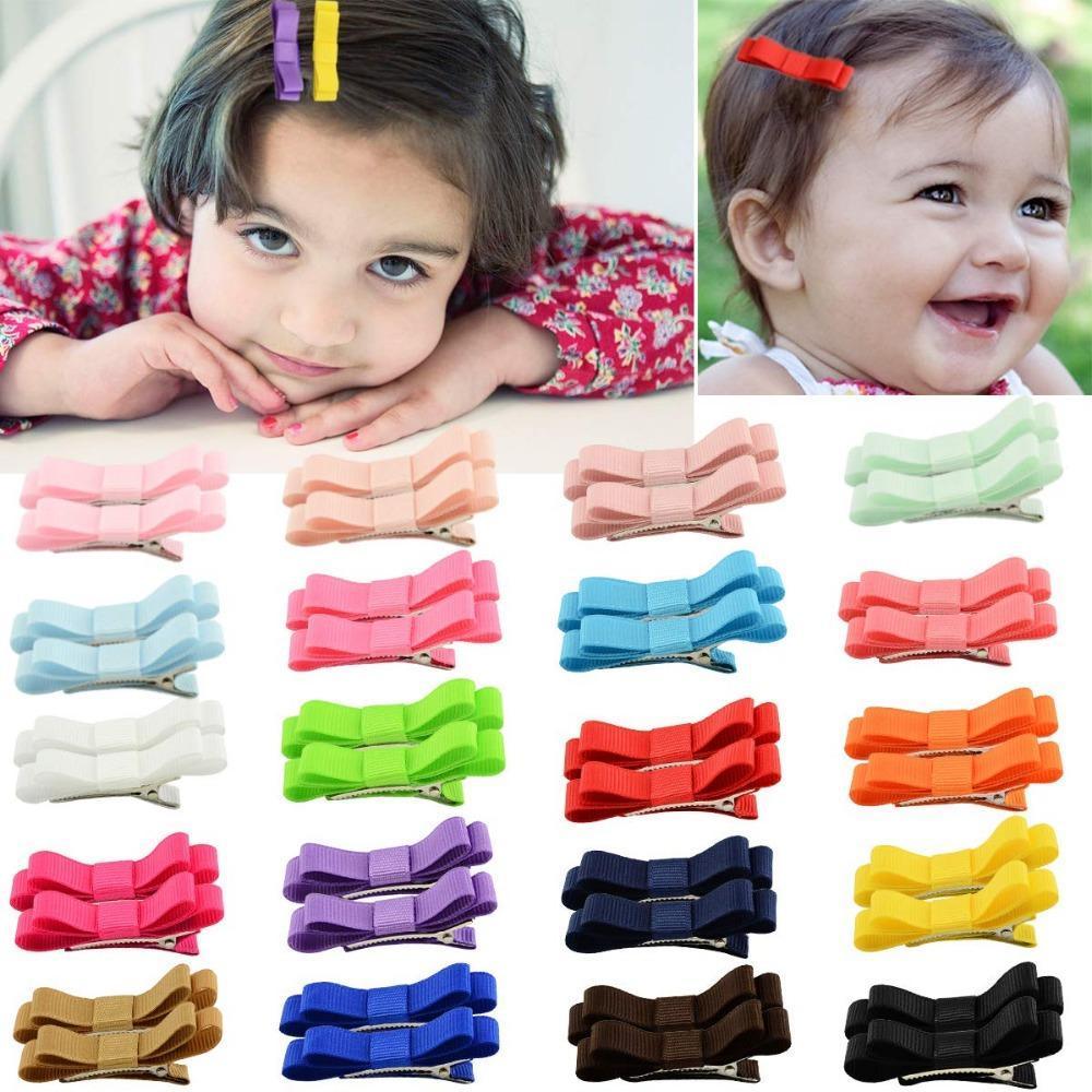 "20-3/""  Baby,Toddler,Girls Hair bows Alligator clips Grosgrain ribbons Pigtails"