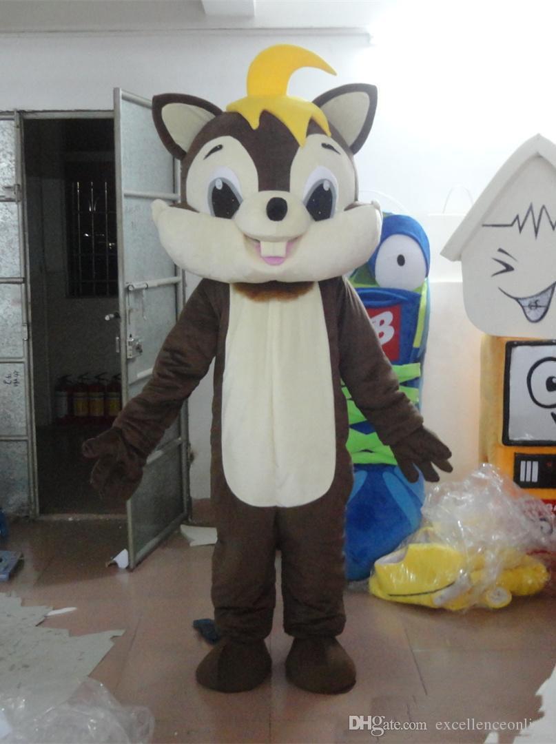 2018 großverkauf der fabrik Braun Eichhörnchen Party Kostüm weihnachten Eichhörnchen Maskottchen Outfit Halloween Chirastmas Party Kostüm Maskottchen Kostüme
