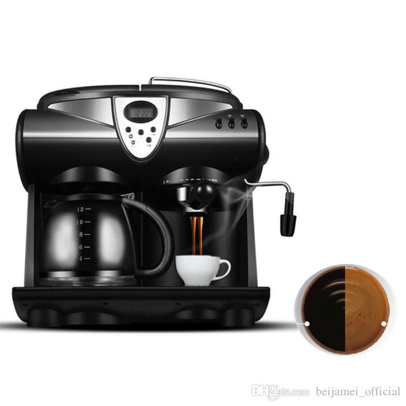 BEIJAMEI Promosyon Ticari Kahve Makinesi Ev İtalyan Kahve Makinesi Buhar Köpüklü Süt Espresso Makinesi Fiyat