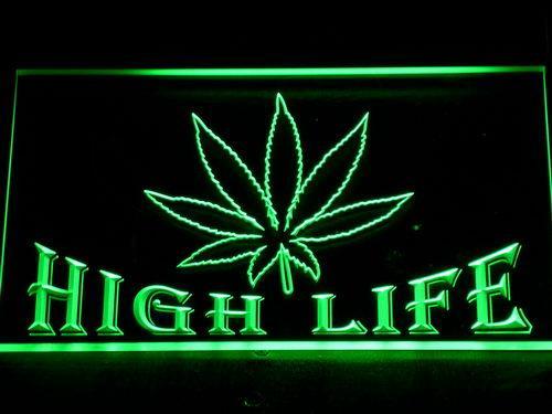 403 feuilles High Life LED Bar Neon signes lumière avec interrupteur marche / arrêt 20+ Couleurs 5 tailles pour choisir
