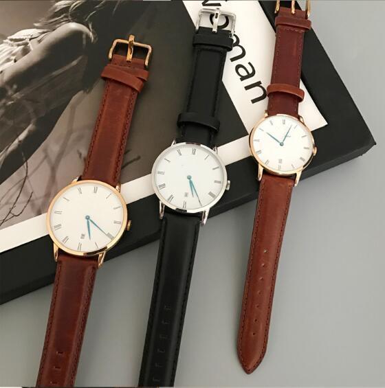 Regno Unito diametro marchio Dial 40 millimetri di nuovo arrivo ultrasottile orologio al quarzo maschile in pelle Sport Clock Uomini Orologio Montre + scatola originale