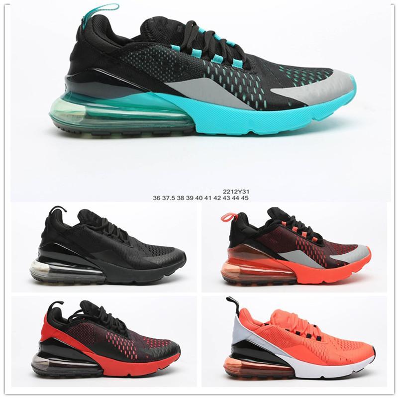 2020 tricot Fly Half Noir Coussin Palm Shock Absorption Respirant sport Chaussures de course pour homme femme Chaussures Mode Formateurs Taille 36-45