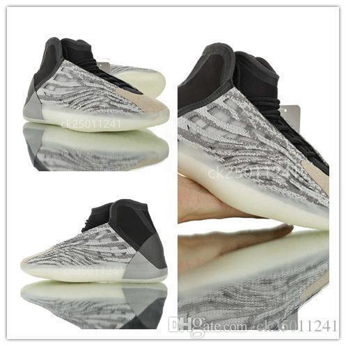 2020 yeni Kanye West binmek erkek ayakkabı tasarımcısı kutu ck02 ile Zebra Spor zapatillas Super 3m yansıtıcı yüksek frekanslı ayakkabı vücut Üçlü