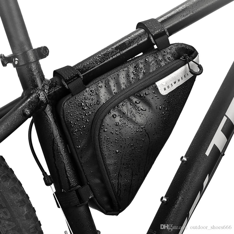 Outdoor Cycling Bicycle Bike Triangle Bag Front Saddle Bag Top Tube Frame Pouch Cell Phone Bag Useful and Practical