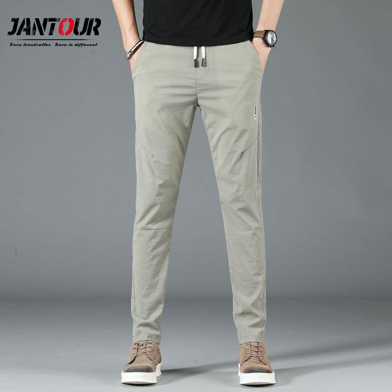 Pantaloni comodi di estate uomini respirabili di modo classico misura sottile sottile maschio casuale dei pantaloni Mens di alta qualità marchio di abbigliamento Nuovo