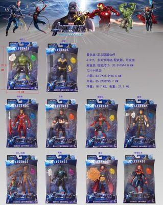10 шт./компл. Марвел Мстители фигурку игрушки со светодиодной Капитан Америка супергерой Бэтмен фигурку коллекционная модель куклы