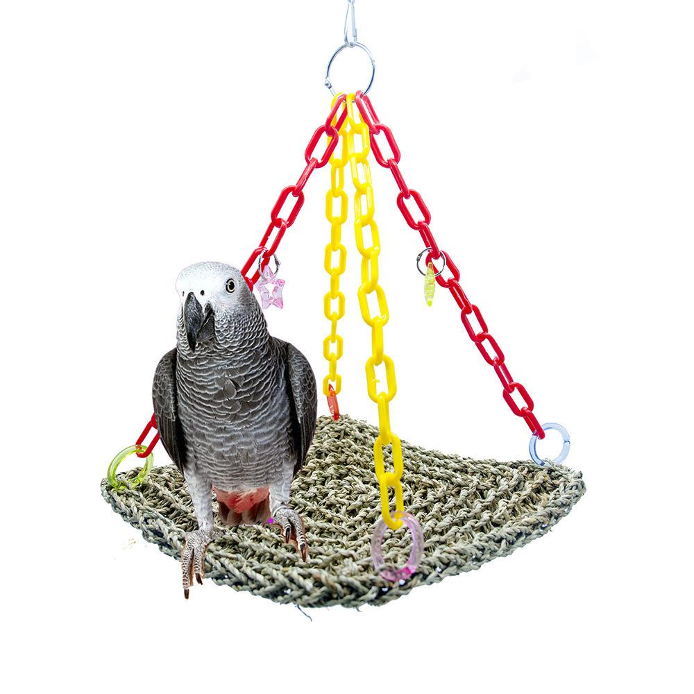 Parrot Articles Bird Toys Straw Plaited Article Gnaw Toys To Climb Parrot Swing Straw Plaited Article Network Amazon New Pattern