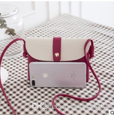 Nuovo sacchetto del telefono mobile del modello del litchi creativo piccola borsa guscio ape arte scontro di colore di svago transfrontaliera sacco per cadaveri trasversale 02