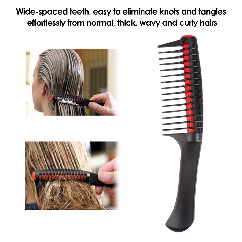 Pettine largo del dente districante spazzola per capelli Parrucchiere antistatico Capelli pettine di plastica staccabile