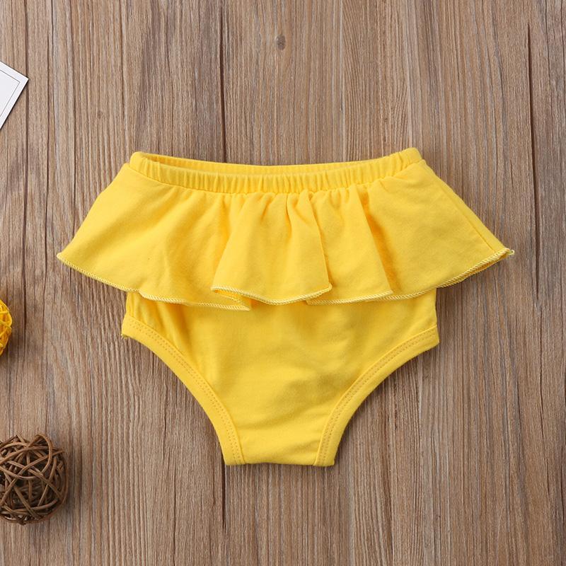 0-24M ragazzo neonato vestiti della ragazza di colore solido increspature pp della mutanda della parte inferiore del bambino Bloomers Mutandine Shorts