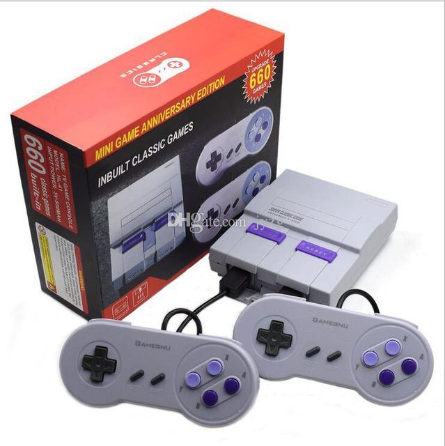 Super Clássico SFC TV Handheld Mini Consolas 2018 mais novo Entertainment System Para 660 SFC NES SNES Games Console transporte da gota livre DHL.