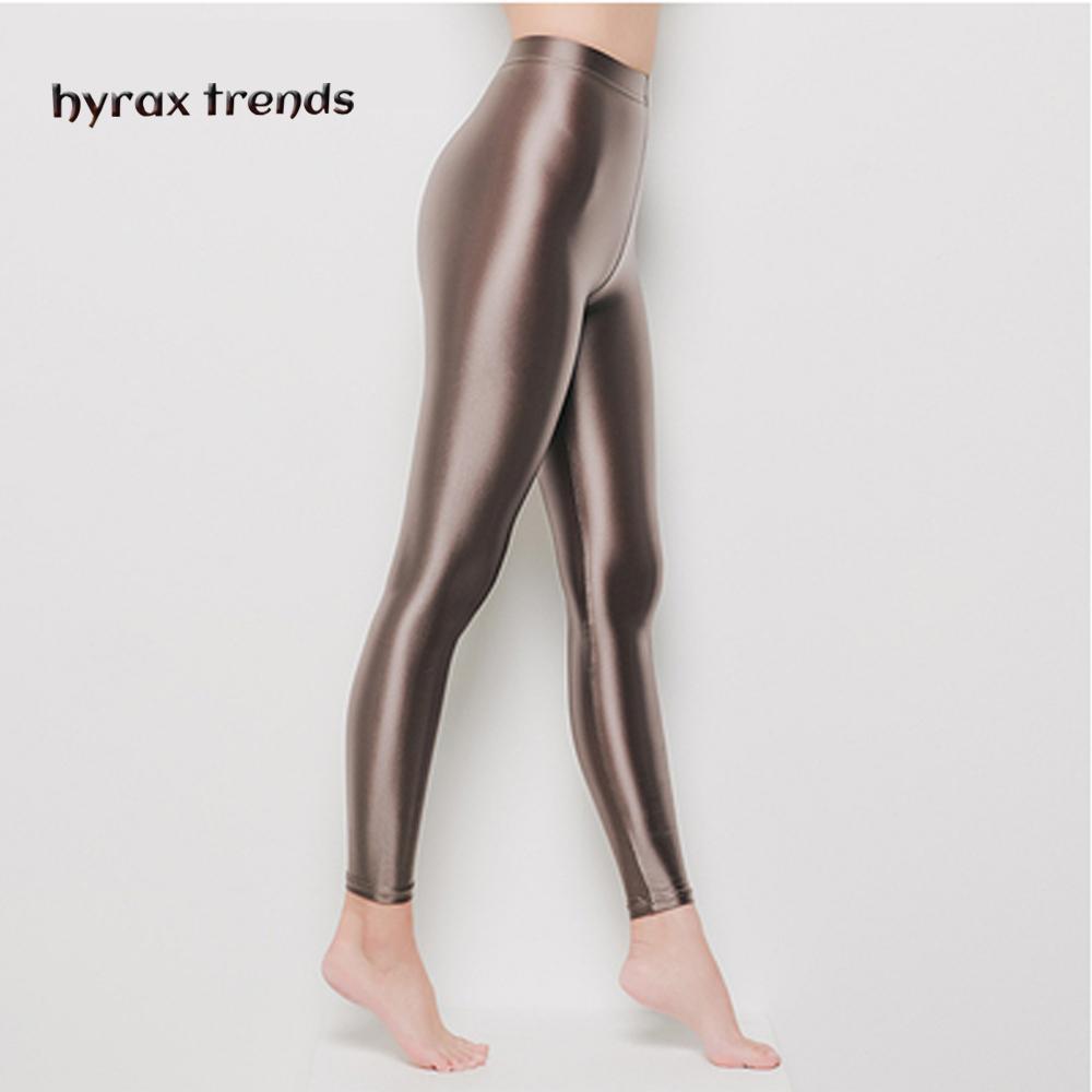 Drozeno yoga pantolon kadın uzun 6 renkler yüksek belli parlak pantolon bayanlar katı renk spor tayt tayt spor spor