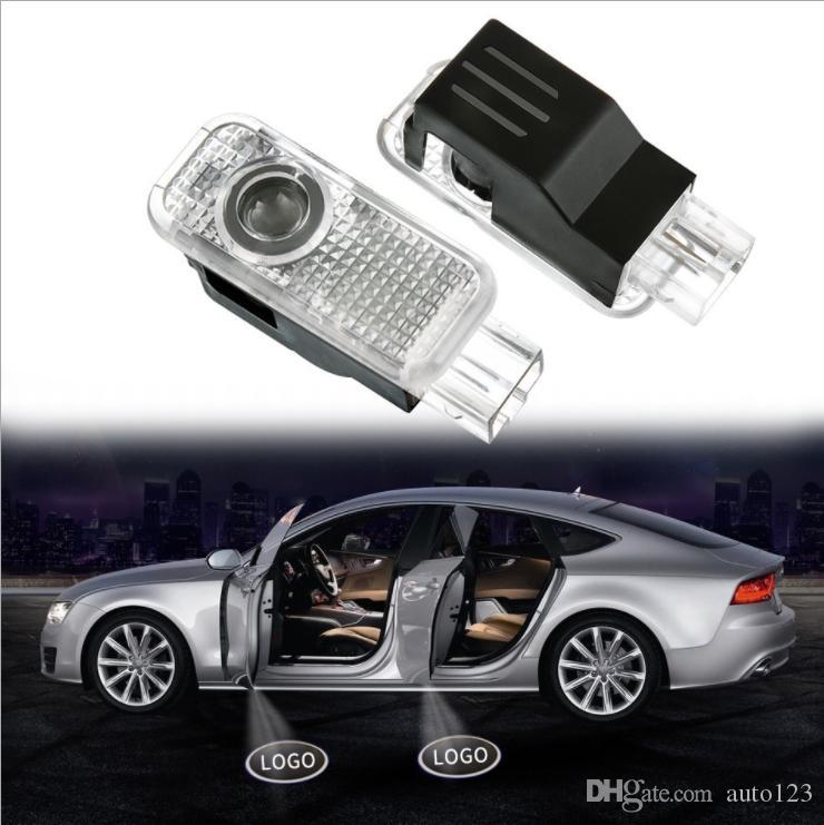 Car door lights logo projector welcome led lamp ghost shadow lights For Audi A3 A4 Q5 Q7 TT A5 A8 A1 A8L A6L Q3 R8