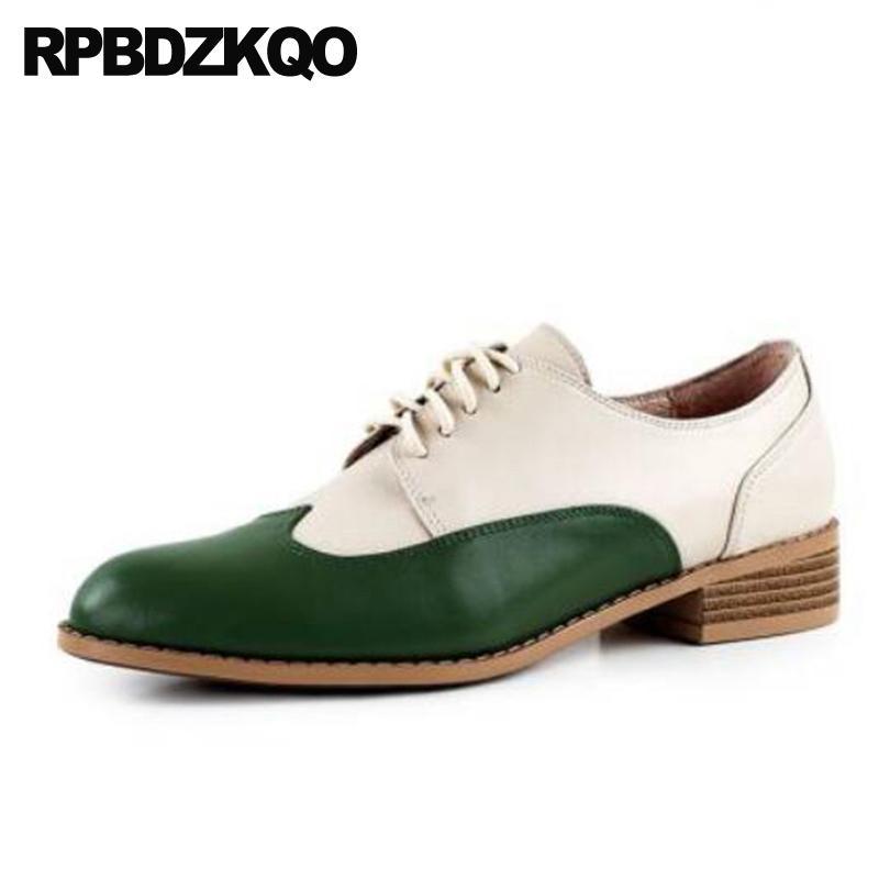 haut talon bas qualité chaussures chine chinois dentelle bout pointu en 2019 vert les femmes de grande taille 10 véritables dames en cuir