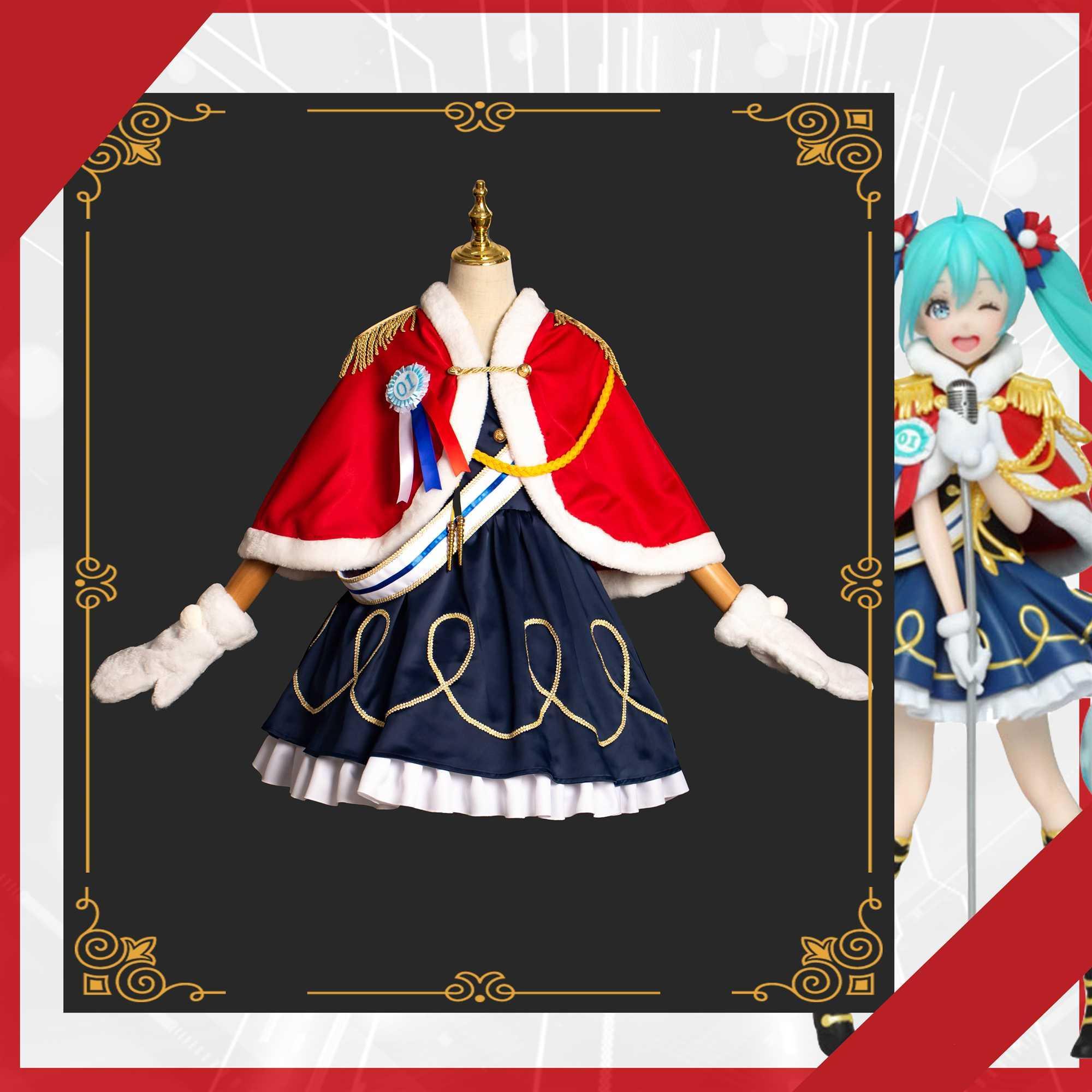[Personalizzato] Anime Vocaloid Miku Inverno Live Band Giocare Uniformi cantante Cosplay costume di Halloween di trasporto 2019 Nuovo