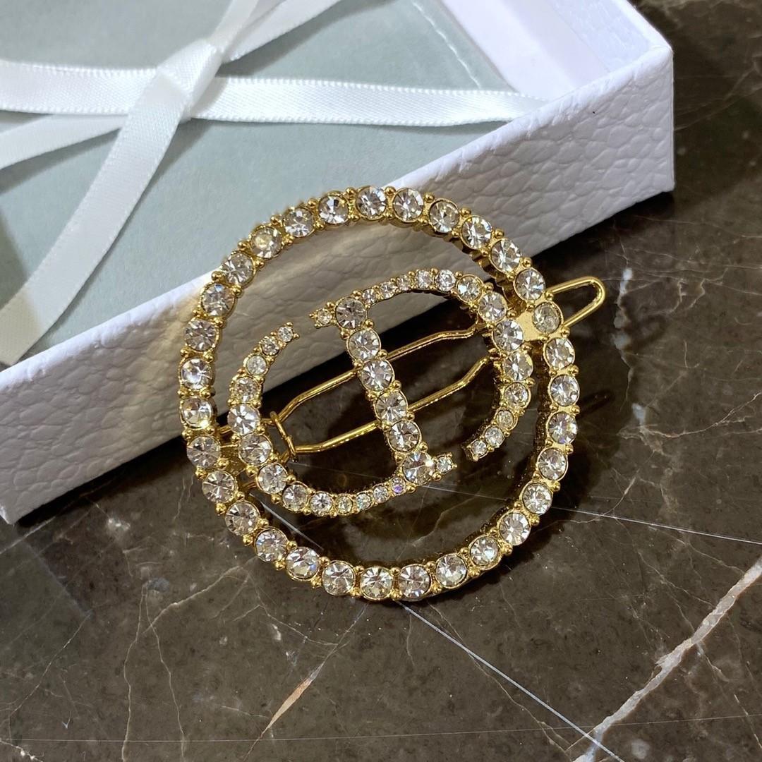 Nuovo lusso pieno lettera CD di diamante della moda di design di lusso tornante design fermagli per capelli gioielli delle donne