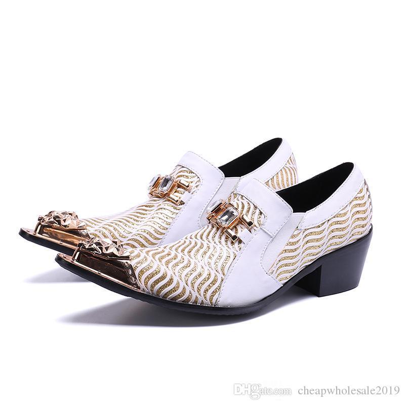 Mens Sapatos de Salto Alto Sapatos de Casamento Sapatos de Couro Dos Homens Formais Sapatos de Negócios para o Trabalho Plus Size