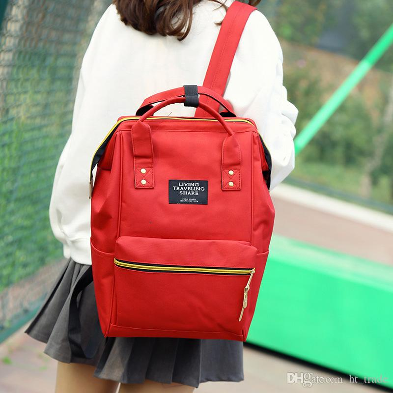 Yeni 11 renk moda çapraz vücut sırt çantası saf renk kolej stili öğrencilerin çanta Seyahat torbasını Schoolbag olduğunu