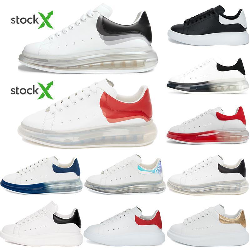 2020 delle donne degli uomini scarpe di cuoio superiore Lace Up Platform Oversized Sole Sneakers Bianco Nero Grigio Blu Rosso Velet Casual Scarpe con la scatola