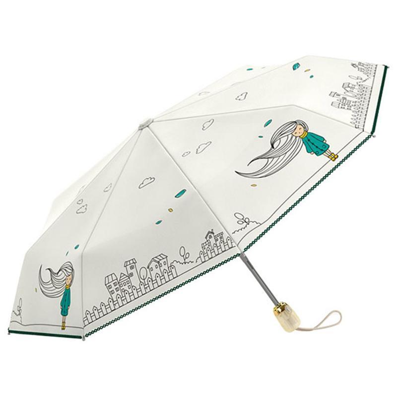 Pluie automatique Parapluie pliant femmes Sérum anti UV imperméable soleil Parapluies Petite Cour pluie Mignon Usefull Uv Idée Cadeau Homme X07