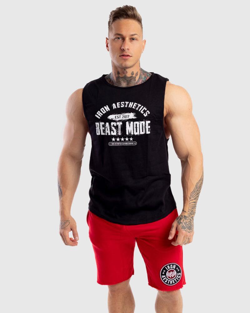 Eğitim Kolsuz tişört Running Yeni Stil Muscle Dr. Saf Pamuk Rahat Yelek Spor Casual yelek erkekler tişört