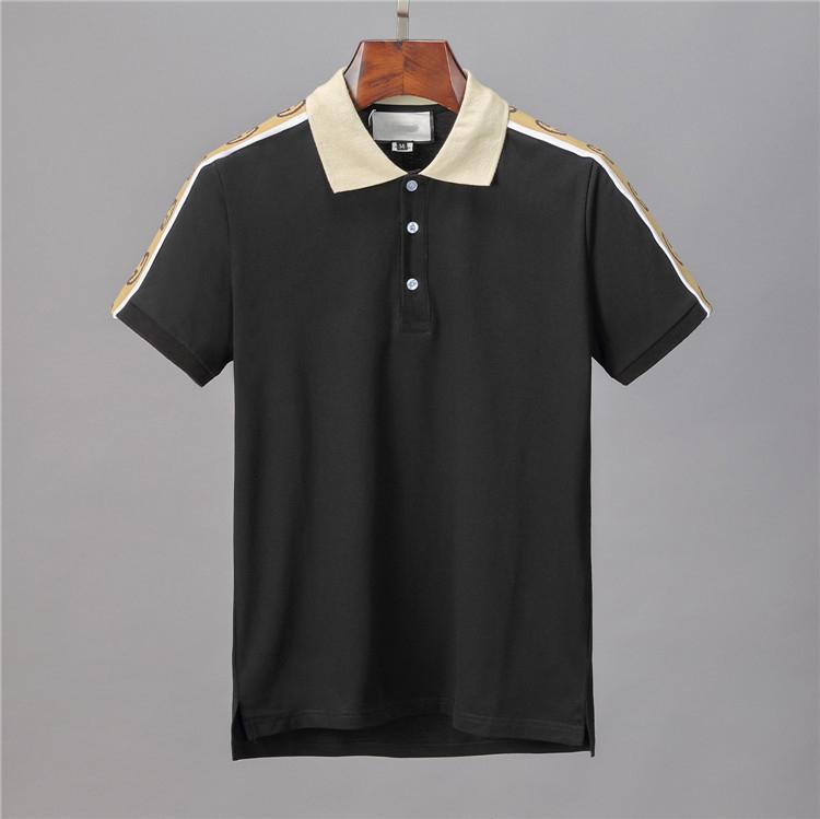 Yeni 2020 Lüks Erkek Tasarımcı Polo T shirt Yaz Kısa Kollu Streetwear Tişört Aşağı Yaka çevirin Casual Polo Gömlek Tops