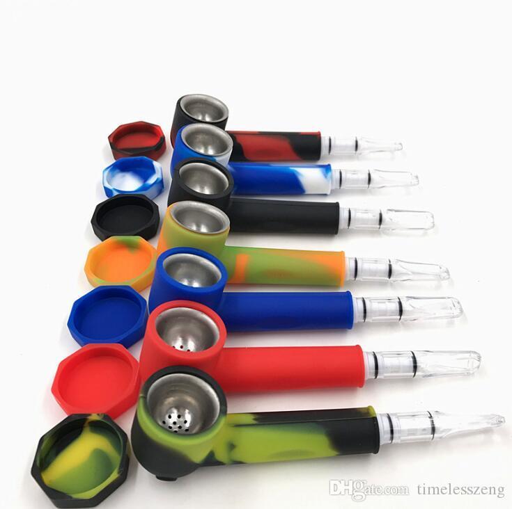 Новые силиконовые курительная трубка с крышками и советы фильтром портативный трубочный табак Euramerican популярный мундштук набор курения