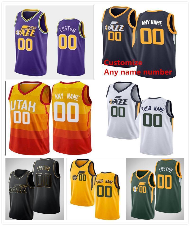 Impresso Utahjazz Rudy # 27 Gobert 44 Bojan Bogdanovic Mike Conley 10 Joe 2 Ingles Donovan 45 Mitchell 11 Dante Exum Basketball Jerseys