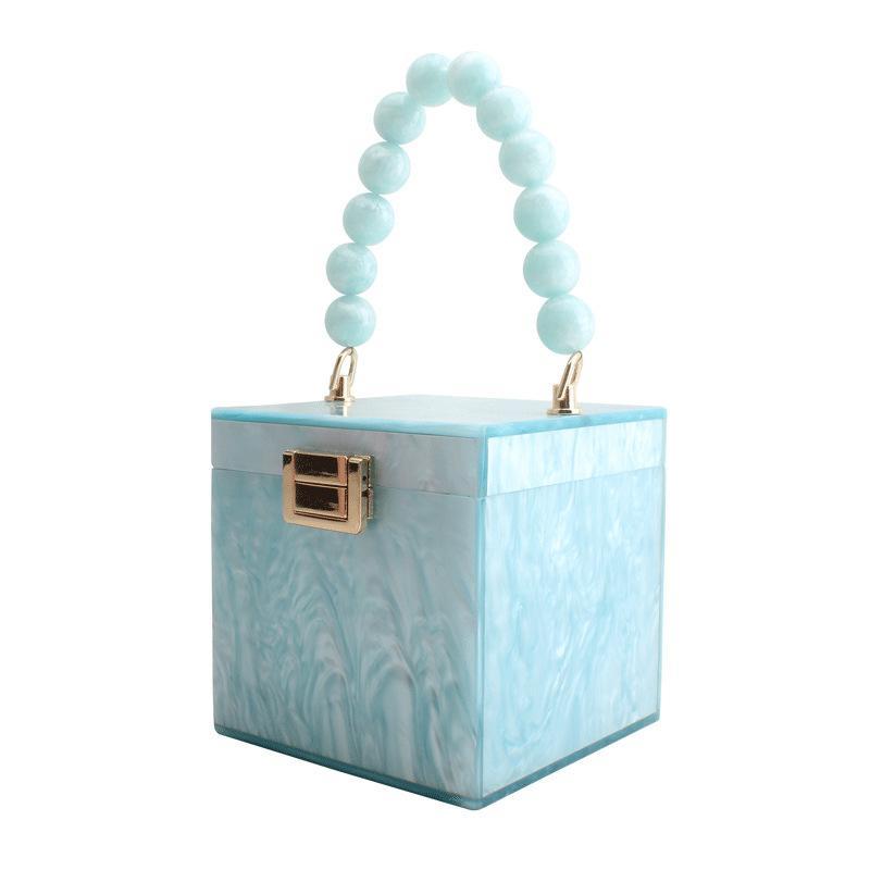 Bolso Cena Cena Acrílico Piece Handle Pearl Calidad Evening Bag Women High Design Square Valsx