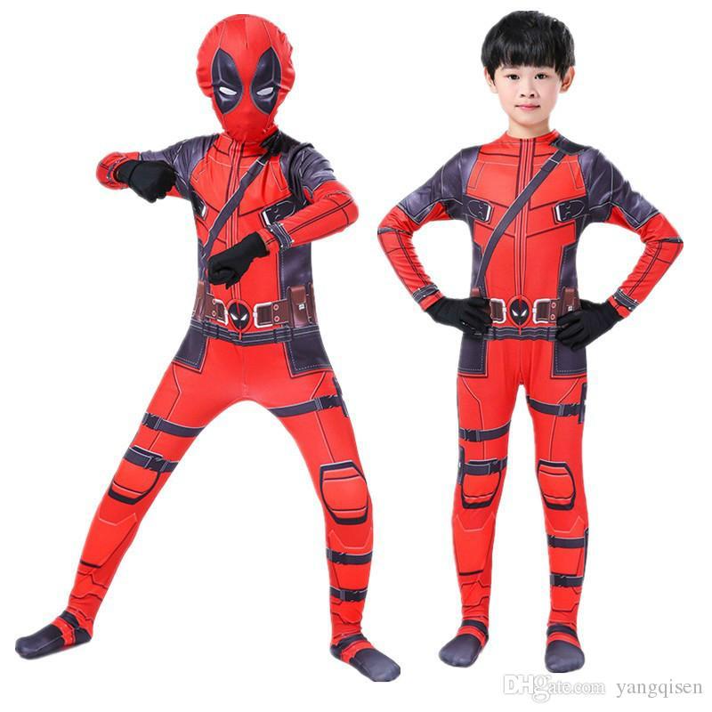 Halloweenl Deadpool jumpsuit Superhero Deadpool Full Body Cosplay suit Adult Children Superhero Deadpool Zentai Bodysuit
