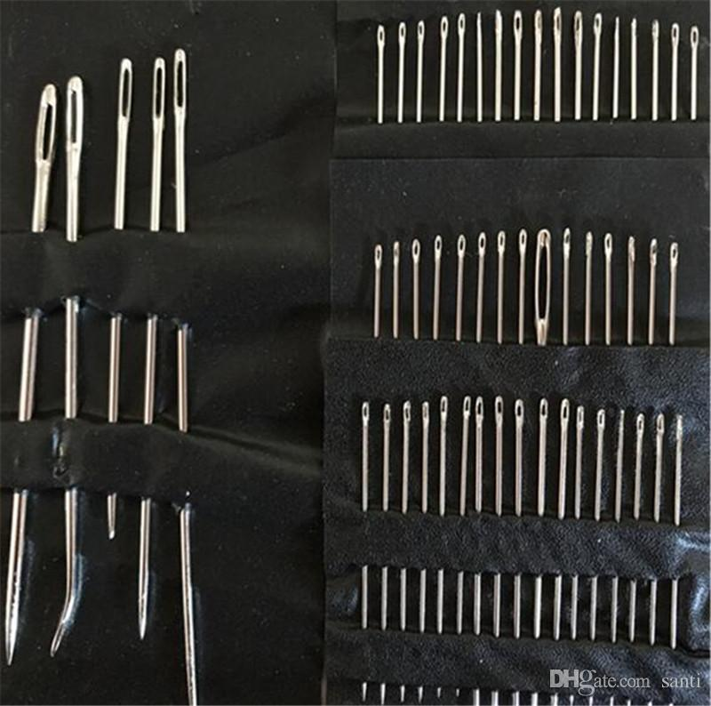 55Pcs/Set Stainless Steel Sewing Needle Sewing Pins Set Home DIY Crafts Hand Sewing Accessories Different Sizes
