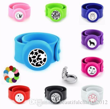1 PCS Chien Chat Hibou Étoile Anti-Moustique Diffuseur Bracelet Bracelet S.S 25mm Médaillon Silicone Bracelet Gratuit 10p Pads Pour Enfants Femmes Cadeau
