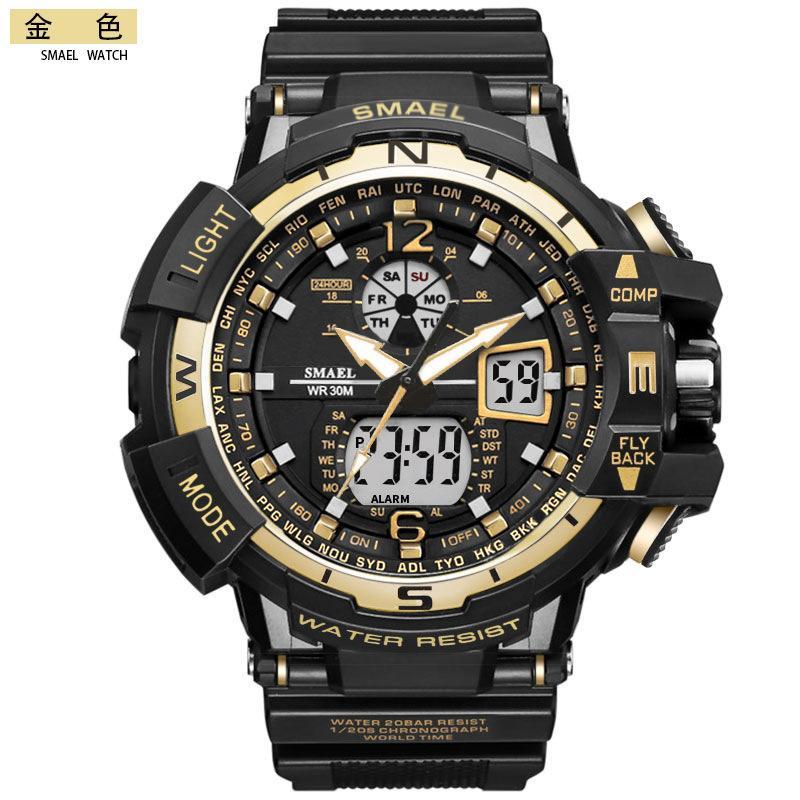 BRW Mens relógios de marca esportes ao ar livre relógios Couro Moda Casual Homens relógios digitais relógio relógio Homens Relogio Masculino Drop Shipping