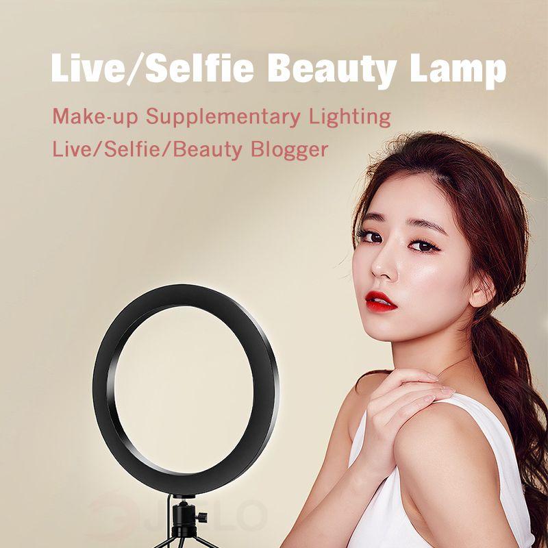 مصباح LED حلقة 6 بوصة إلى 10 بوصة USB لايف الصور الشخصية للضوء عصا الجمال حامل الطاولة الجدول أعلى مصباح كاميرا فيديو حلقة الصمام الخفيفة المحمولة
