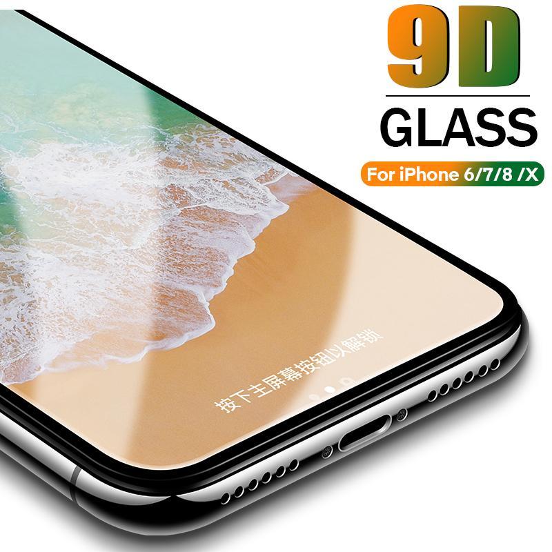 9D Schutzglas für iPhone 6 6S 7 8 plus X Glas auf iPhone 7 6 8 XR XS MAX Displayschutzfolie iPhone 7 6 Displayschutz XR