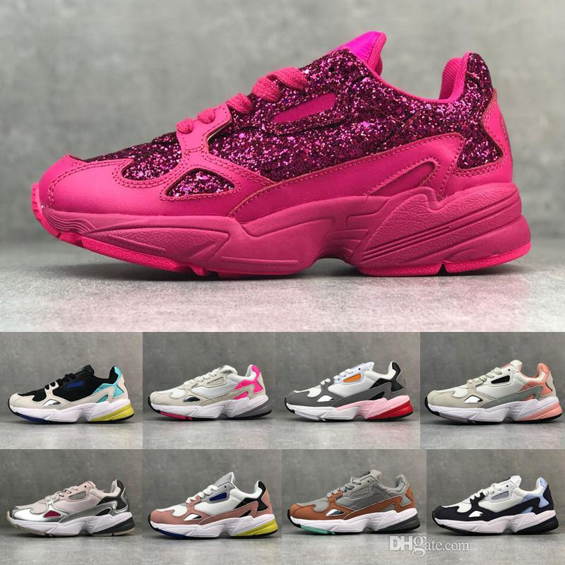 2019 FALCON W Designer Running Shoes for Women Trainers Sneakers Brand Fashion Falcon Shoes Originals Jogging des Chaussures Schuhe 36-45