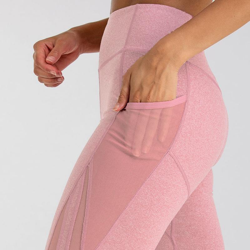 جيب عالية الخصر طماق النساء اللياقة تجريب leggins 2019 الأزياء بنطلون المرقعة رفع أنثى رياضة طماق الرياضية SH190828