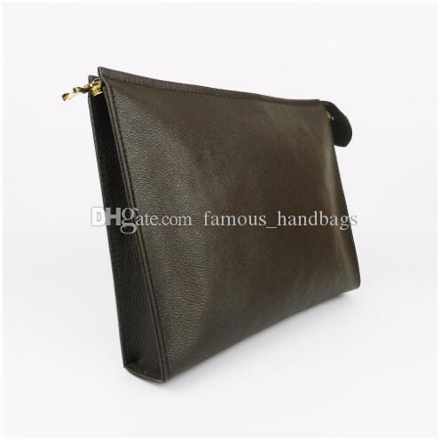 Wallet letter flower Coffee Black lattice mens bags women wallets Cosmetic bag Handbags purses 47542 Come with BOX
