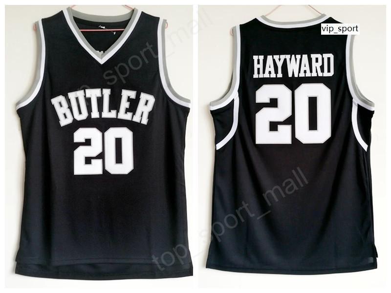 Calidad Gordon Hayward Butler Bulldogs Jerseys Color negro Baloncesto College Gordon Hayward Jersey Uniforme deportivo Envío gratis