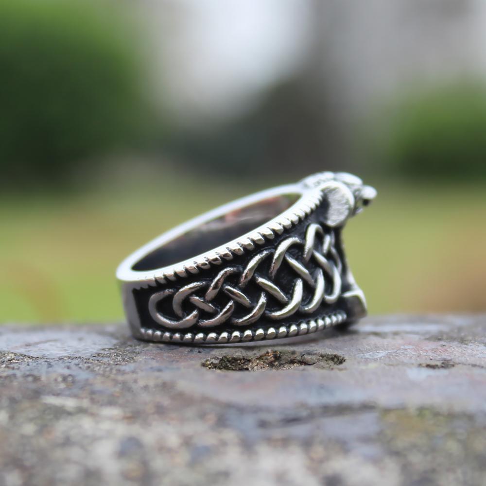 Viking Mjolnir HammerRing Mens Nordic лев из нержавеющей стали кольца Амулет ювелирные изделия
