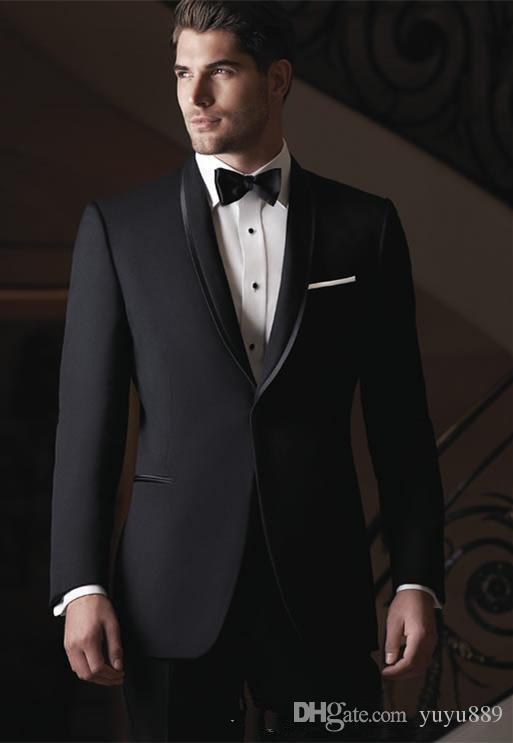 Breasted Side Vent Light Grey Groom Tuxedos Peak Lapel Groomsmen Mens Wedding Tuxedos Prom Suits (Jacket+Pants+Tie)
