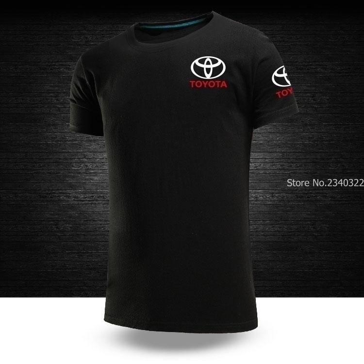 Moda verão Novos Homens Engraçados Toyota T-shirt Tops Casual Cor Sólida T Shirt Y19050701