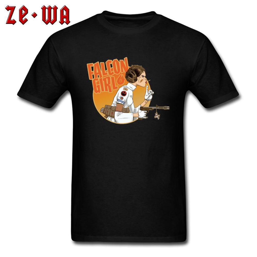 2019 Erkekler T Gömlek Prenses Leia Tshirt Falcon Kız Asi Logosu T-shirt Erkek Pamuk Komik Giysiler ar15 Tee Siyah
