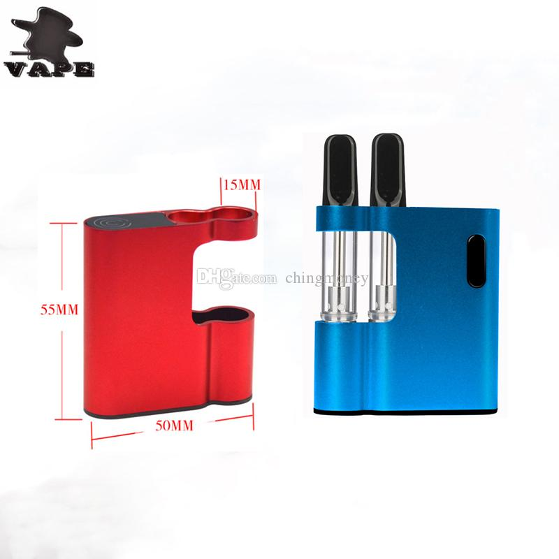 Original WSM E cigarettes Thick Double oil Cartridges Vaporizer Kit 650mAh Box Mod Battery 510 Thread TH210 Tank Wax Atomizer vape pen