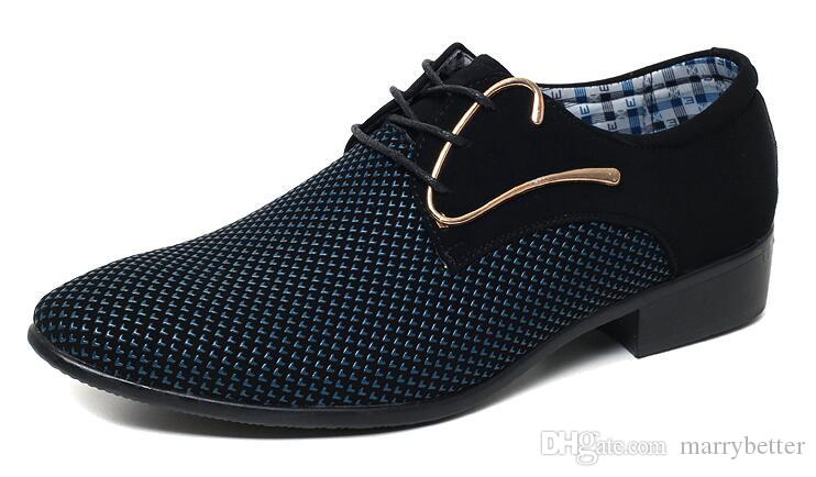 Cheapest mens dress shoes Pointed toe mens Oxfords wedding business white blue shoes lace up mens fashion flats 46 47 1a32