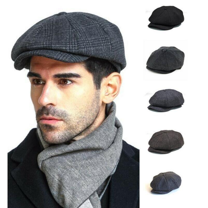 2021 2019 Classic Fashion Mens Newsboy Hat Painter Octagon Hat Korean  Version Thickened Warm Plaid Beret Vintage From Ogfashion, $20.29 |  DHgate.Com