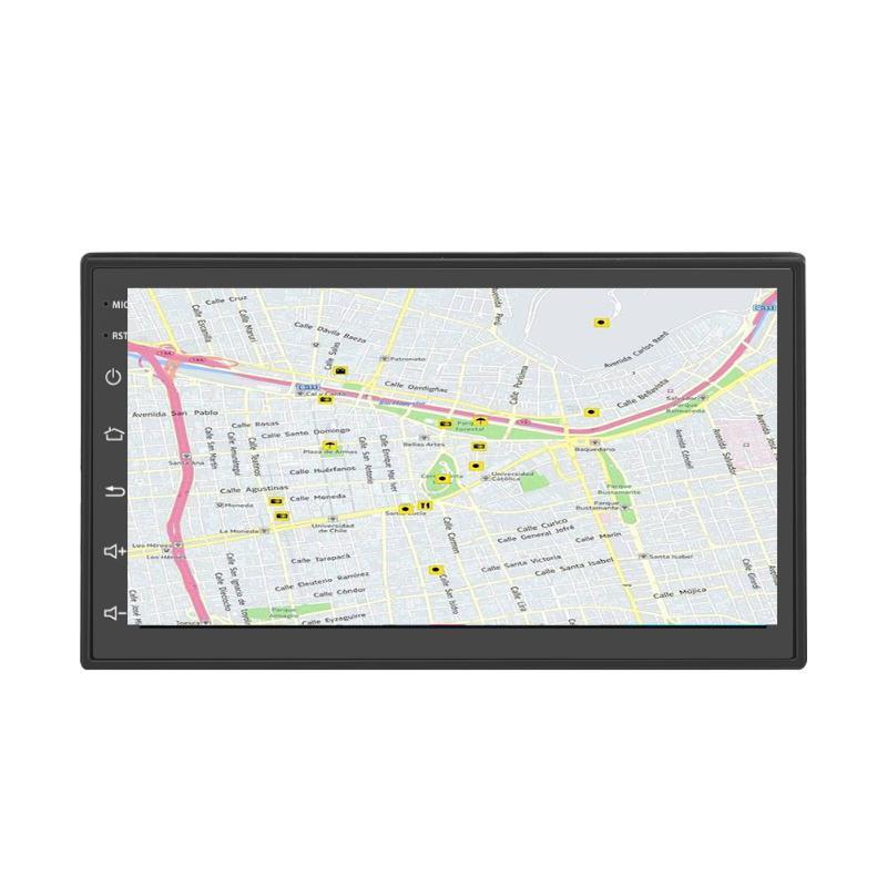 7 pouces multifonctions Radio LCD Navigation GPS universel Double Din voiture lecteur HD caméra de recul MP5 FM pour Android 8.1