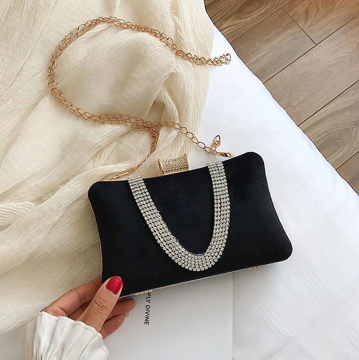 pochette scatola dura nuova borsa catena velluto donne all'ingrosso del progettista-Factory inverno borsa sacchetto del pranzo dolce signora diamanti gas estero