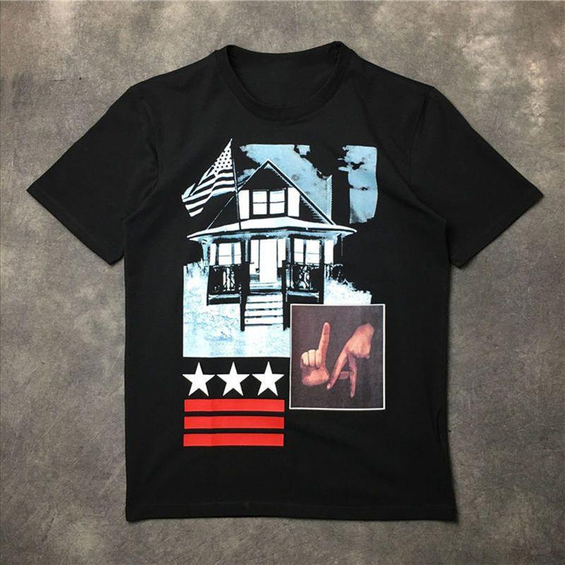 Mens Stylist T shirt maniche corte casuale moda astratta Gesti di stampa donne degli uomini di alta qualità di Hip Hop Tees formato S-XXL