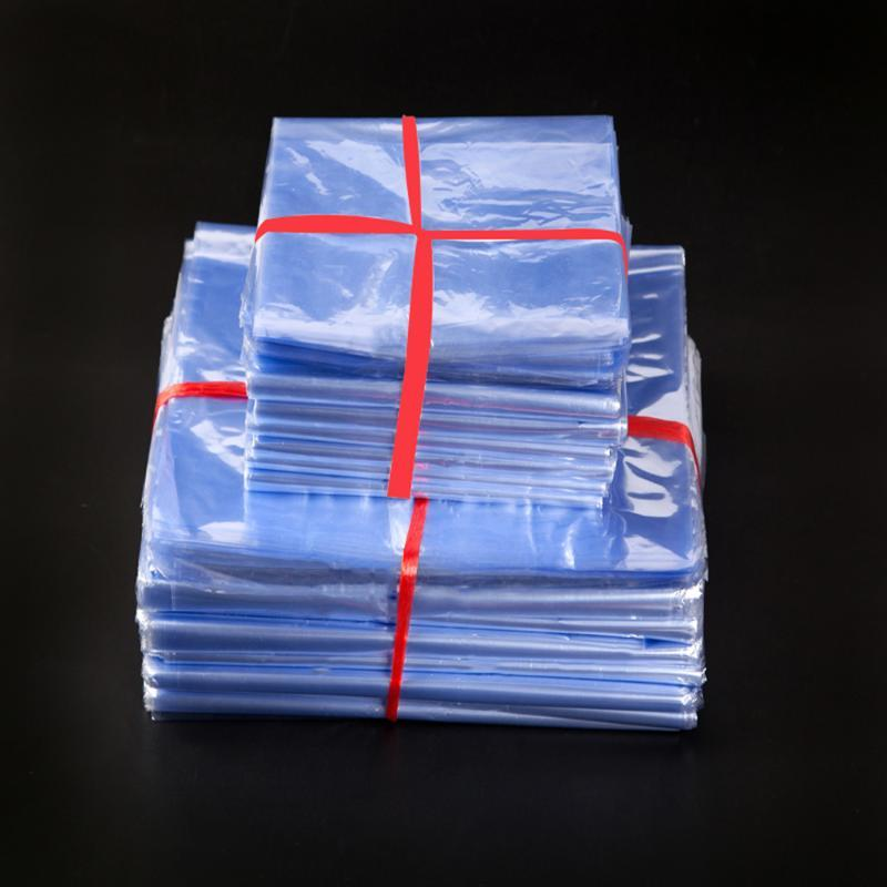 100Pcs PVC Heat Shrink Wrap Film Bag Plastic Membrane Shrinkable Packaging Bags Clear Heat Shrink Storage Packing Bags